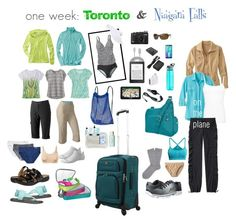 one week: Toronto & Niagara Falls by lgambill on Polyvore featuring polyvore fashion style TravelSmith Title Nine BKE prAna MPG Croft & Barrow Jockey Carve Designs Falke H&M ExOfficio sanuk Champion Smartwool Skechers Clarks SwissGear Travelon Athleta Flight 001 NIKE Samsung Ray-Ban Secret philosophy Benefit Garmin Eos Contigo WALL GE clothing