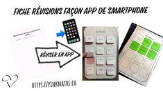 Fiche de révisions façon app de smartphone - YouTube Smartphone, Math Work, Rappelling, Facon, Maths, Make It Yourself, Iphone, Youtube, Blog