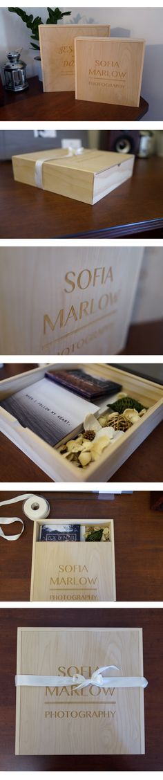 Our Wooden Album Boxes are perfect for presenting your clients their photos and albums!