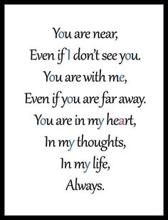 Always.....❤️ Although we are drifting further & further apart, you will Always have your place in my heart....forever & always infinity.