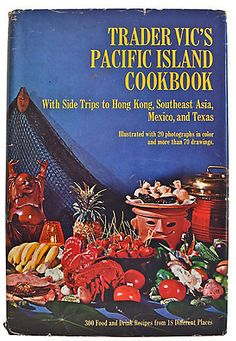 $85 - One Kings Lane Vintage Trader Vic's Pacific Island Cookbook - Trader Vic's Pacific Island Cookbook by Victor J. Bergeron. Garden City, NY: Doubleday & Co., 1968. Hardcover with dust jacket. Illustrated with color photographs. 287 pages. Minor age wear.. Hardcover
