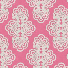 It's fabric from the new Lilly Pulitzer collection from Lee Jofa. The pattern is Shall We in Hotty Pink.