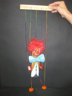 Kids Crafts, Clown Crafts, Carnival Crafts, Puppet Crafts, Creative Crafts, Toilet Paper Crafts, Easy Paper Crafts, Cardboard Crafts, Diy And Crafts