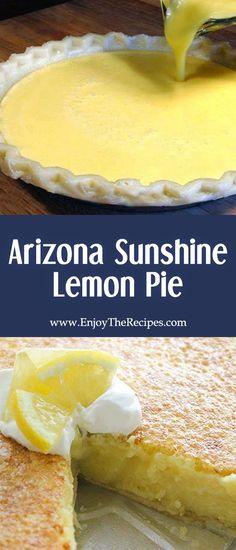 Arizona sunshine lemon pie enjoy the recipes enjoytherecipes recipes desserts pie fried lemon pies Lemon Desserts, Lemon Recipes, Just Desserts, Delicious Desserts, Best Lemon Pie Recipe, Awesome Desserts, Curd Recipe, Summer Desserts, Pie Dessert