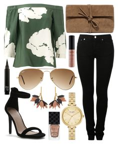 """""""Untitled #646"""" by daimy-style ❤ liked on Polyvore featuring TIBI, MM6 Maison Margiela, Ray-Ban, LULUS, Kate Spade, Marni, NYX and Gucci"""