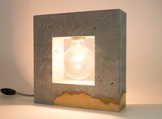 Inscrito Concrete Table Lamp/ Concrete and wood by ArdomaDesign on Etsy https://www.etsy.com/uk/listing/400979083/inscrito-concrete-table-lamp-concrete