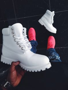 white boots. could you imagine them splattered with paint?!