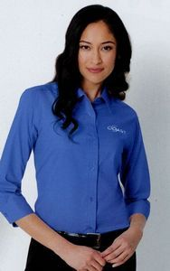 Port Authority Ladies' 3/4 Sleeve Easy Care Shirt  // $22.11 each, plus fees for logo.