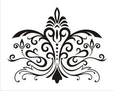 Stencil Floral Damask Design 3.9 Wall Stencil image is 13 x 10 inches. $14.95, via Etsy.