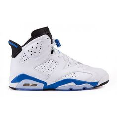 purchase cheap 2a0a9 56b3f Air Jordan 6 Sport Blue (White Sport Blue-Black ) Jordan Retro 6