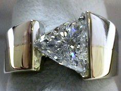 1.04 Carat Custom Made Trilliant Cut Diamond Engagement Ring SOLD