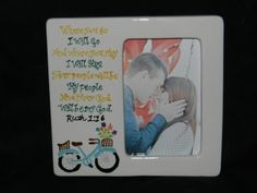 """Where You Go I'll Go"" Engagement Picture Frame/Paint Your Own Pottery Project Ideas, Craft Projects, Color Me Mine, Painted Picture Frames, Sweet Picture, Paint Your Own Pottery, Guestbook, Pottery Painting, Just Married"