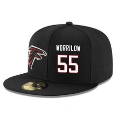 01c3d1f01 Atlanta Falcons #55 Paul Worrilow Snapback Cap NFL Player Black with White  Number Stitched Hat
