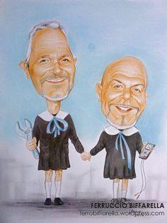 #caricatura-compleanno-50-anni-amici-alunni-asilo# #Caricatura Castelfranco Emilia# #Idea regalo Caricatura#