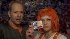 Bruce Willis and Milla Jovovich in The Fifth Element directed by Luc Besson, 1997