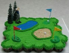 Golf Tips That Anyone Can Start Practicing Today. Globally, a lot of people look to golf for relaxation, fun, or to compete against your buddies. Golf Birthday Cakes, Birthday Cupcakes, Birthday Fun, Birthday Parties, Husband Birthday, Birthday Ideas, Pull Apart Cupcake Cake, Pull Apart Cake, Golf Cupcakes