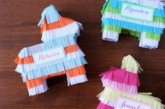 Throw a festive Cinco de Mayo bash with these cute and colorful DIY mini piñatas.