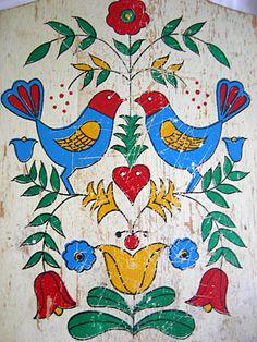 shabby chic machine embroidery designs   Shabby Worn Cottage Chic Amish Pennsylvania Dutch Hex Distlefink ...