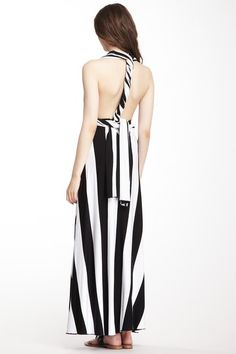 Striped Wrap Around Dress