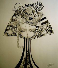 Aya Kato, Japanese illustrator,graphics,Art Nouveau