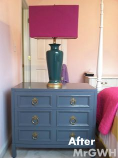 Bedside chest makeover