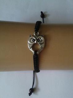 Owl bracelet  owl charm  owl jewelry  owl jewellery  by katsmakes