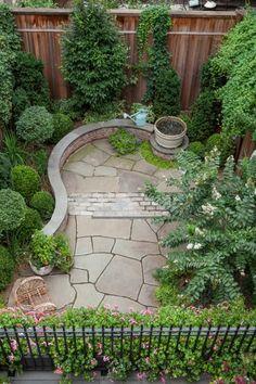 Small garden landscape - Manhattan garden- Landscape Architect Susan Wisniewski Hudson Valley