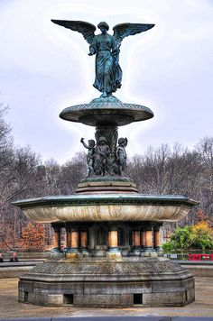 Bethesda Fountain In Central Park by Randy Aveille Bethesda Fountain In Central Park New York City NYC. One of my favorite places in NYC. Statues, Oh The Places You'll Go, Places To Visit, Bethesda Fountain, Central Park Nyc, Central City, Ville New York, A New York Minute, Concrete Jungle
