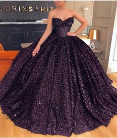 Bedazzled sugar plum corset ball gown. Valdrin Sahiti