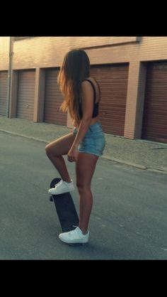 Skater girl wallpaper   girl profile pics   Pinterest   Skater girls, Girl wallpaper and Profile pics