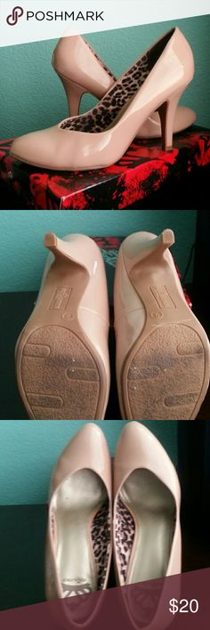 Fergalicious Sammi Nude Stilletos Almost new wore once. Beautiful nude color. Great with anything. Bundle for more saving. Box included. Fergalicious Shoes Heels
