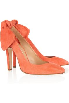 Carven - Suede Slingbacks in Peach (also in Cobalt Blue—I want them both!) $595