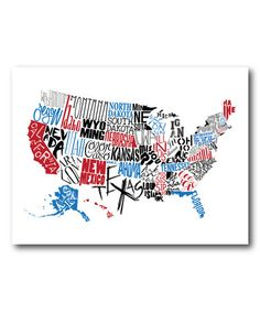 Love this United States of America Wrapped Canvas on #zulily! #zulilyfinds