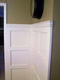 DIY Wainscotting. From older and wisor.