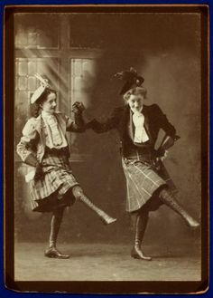 +~+~ Antique Photograph ~+~+  The McCoy sisters, Bessie and Nellie dancing up a storm.  ca. 1880