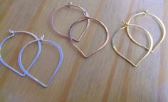 Rose Gold Vermeil And Sterling Silver Hoop Earrings