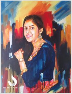 #StroCurve Latest Abstract Portrait work on canvas to my client... Medium: Acrylic on canvas, Size: 18 x 24 inches For more details contact us:9652579869