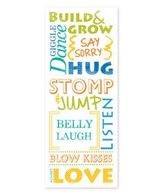 Love this 'Build & Grow' Wrapped Canvas on #zulily! #zulilyfinds