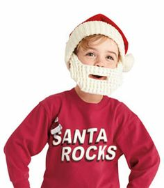 a3ca01c5ca6 knit santa hat   beard - keep little heads toasty in Santa-approved style.  our cozy knit hat has a detachable beard and a thick ribbed cuff. expect to  hear ...