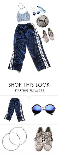 """Sporty"" by gumnut-baby ❤ liked on Polyvore featuring ZeroUV, Melissa Odabash, Puma, adidas and 90s"