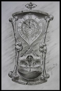 Drawn hourglass black and white - pin to your gallery. Explore what was found for the drawn hourglass black and white Tattoo Design Drawings, Skull Tattoo Design, Skull Tattoos, Tattoo Sketches, Body Art Tattoos, New Tattoos, Sleeve Tattoos, Tattoo Designs, Best Tattoo