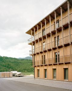 Timber Architecture, Multi Story Building, Construction, Exterior, Landscape, Wood, Modern, House, Home Decor