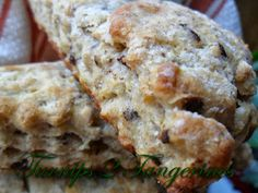 Banana Chocolate Chip Scones by Turnips 2 Tangerines... made these today and they turned out yummy! Nice alternative to banana bread.