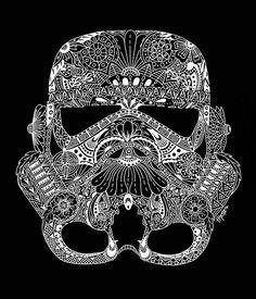 Star Wars Storm Trooper Zentangle Art von HipstaGraphics auf Etsy