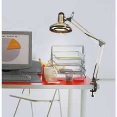 architect style clamp on base desk lamp