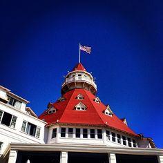 """""""Hotel del Coronado #sandiego Coronado Island""""  by cathyt23 via Instagram."""