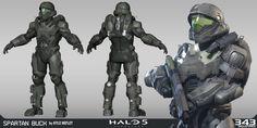 Halo 5: Guardians | Spartan Buck, Kyle Hefley@ArtStation