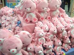 Uploaded by kawaii kanye west. Find images and videos about cute, pink and bear on We Heart It - the app to get lost in what you love. Kawaii Room, Cute Stuffed Animals, Cute Plush, Everything Pink, Care Bears, Kawaii Cute, Pink Aesthetic, Sanrio, Plushies