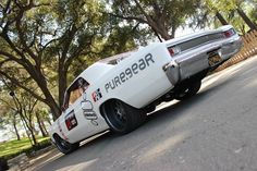 """#BecauseSS Car Feature: Mike Cavanah's Pure.Gear 1966 Chevelle """"Grand Sport"""" - LSXTV. 66 pro touring. side fender rally stripes white matte red interior. spoiler ridetech boze mesh 19"""" wheels"""