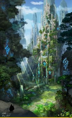 Cathedral of the cliff, ain choi on ArtStation at … – Kathedrale der Klippe, ain choi auf. Fantasy City, Fantasy Castle, Fantasy Kunst, Fantasy Places, Fantasy World, Dark Fantasy, Fantasy Artwork, Fantasy Art Landscapes, Fantasy Concept Art